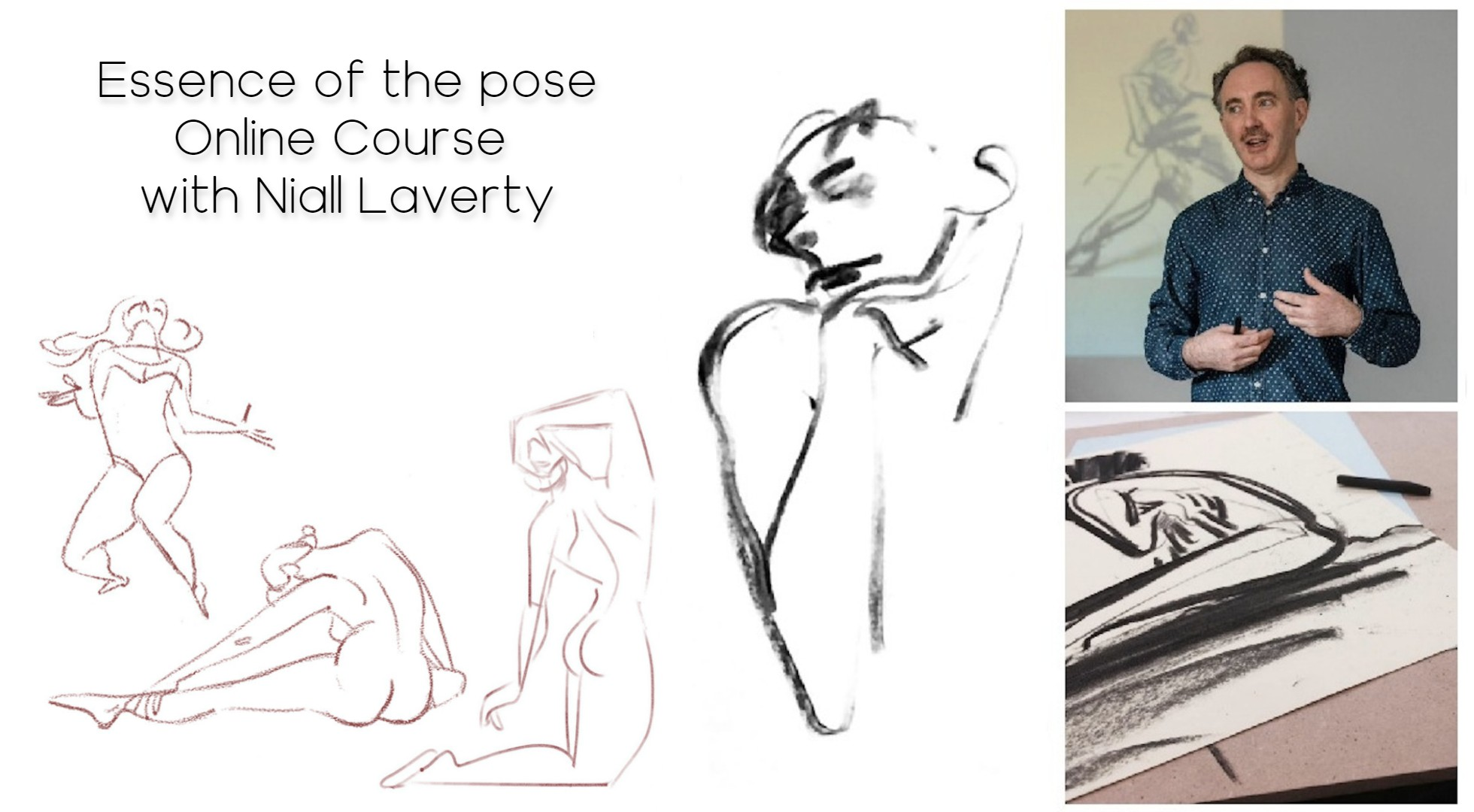 13.07.21 | Essence  of  the  Pose  –  Gesture  Drawing Online Course