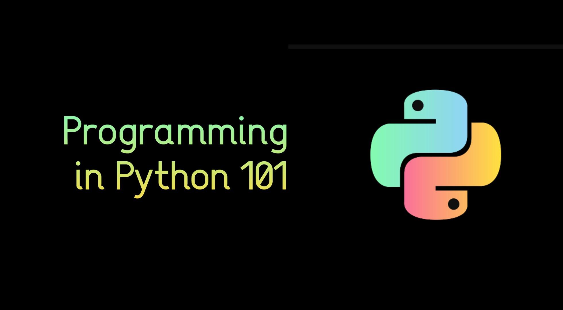 23.08.2021 | Programming in Python 101